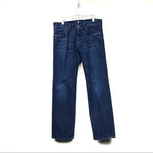 7 for all mankind austyn dark wash boot jeans 34